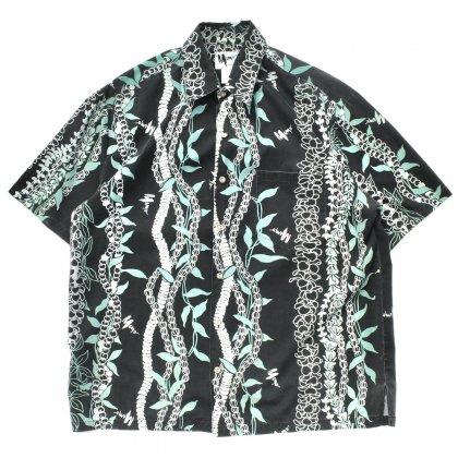 古着 通販 ヴィンテージ S/S アロハ シャツ【Mamo Howell】【1980's -MAde in Hawaii】Beads & Leaf