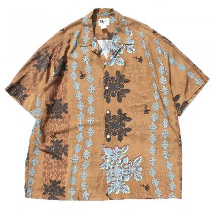 古着 通販 ヴィンテージ S/S レーヨン アロハ シャツ【Mamo Howell】【1980's -MAde in Hawaii】Leaf & Leopard