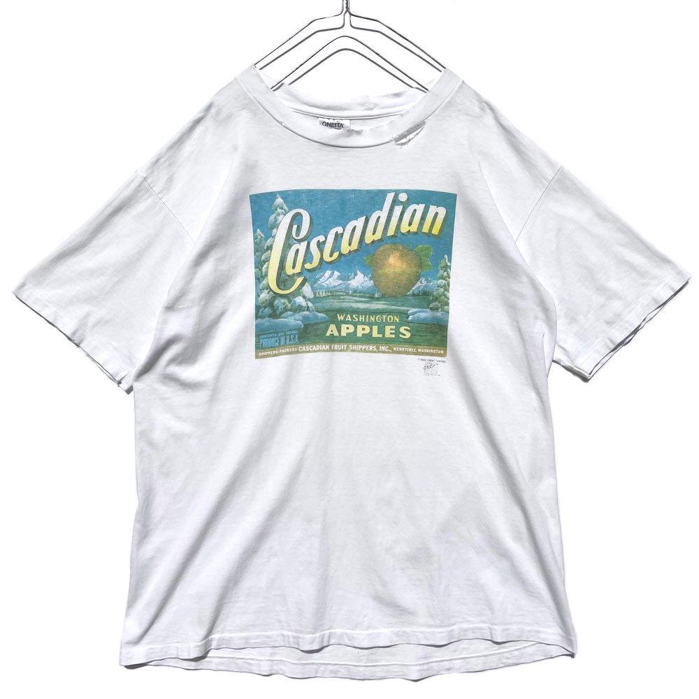 古着 通販 【Cascadian Fruit Shippers】ヴィンテージ 企業広告プリント Tシャツ【1989's】Vintage Company Logo Print T-Shirt