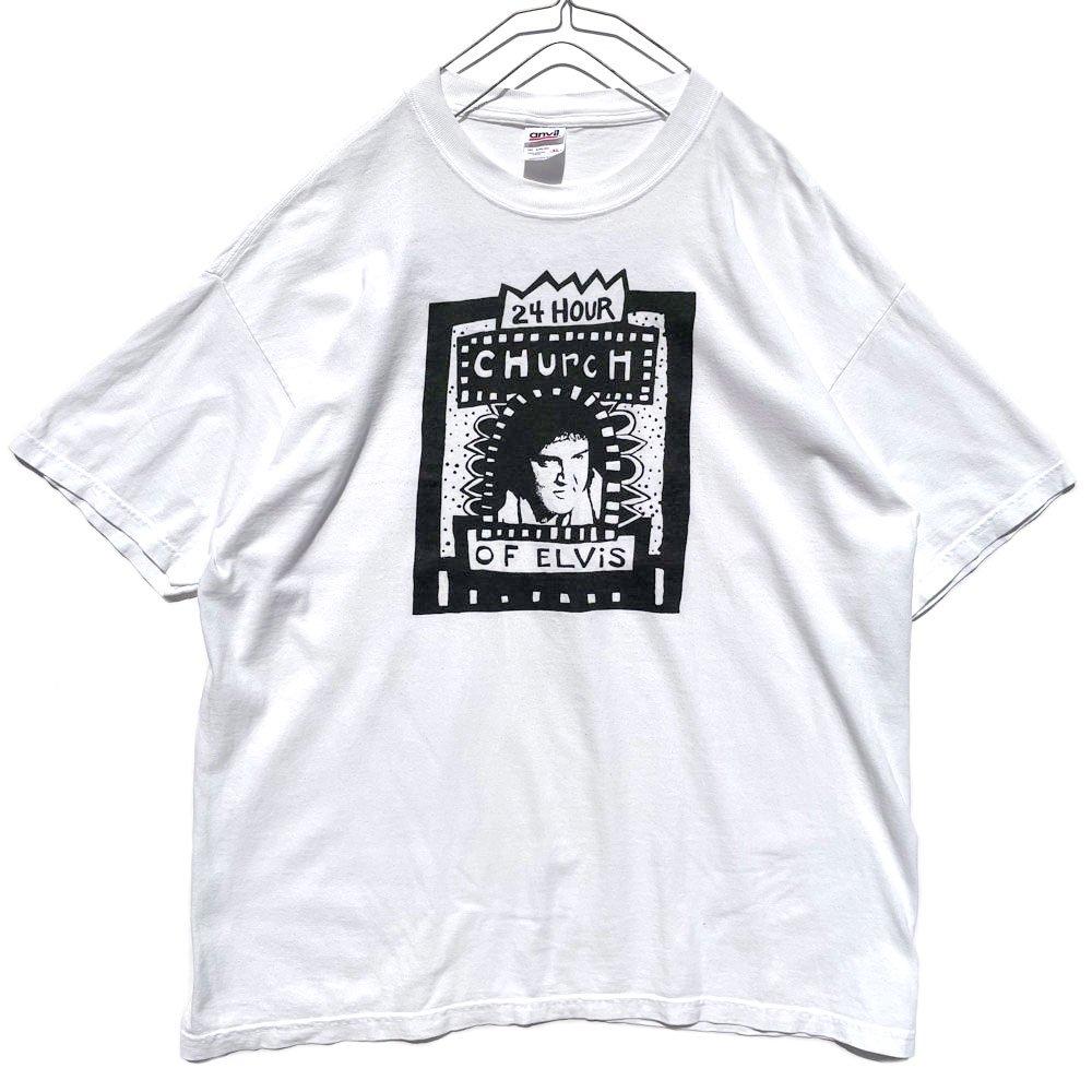 古着 通販 【24 Hour Church of Elvis】ヴィンテージ アートギャラリー プリント Tシャツ【1990's-】Vintage Art Gallery Print T-Shirt