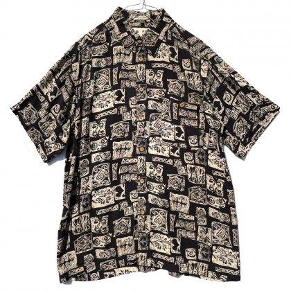 古着 通販 ヴィンテージ ティキ柄 レーヨン アロハシャツ【1990's】Vintage Rayon Hawaiian Shirt