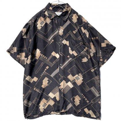 古着 通販 ヴィンテージ アートプリント シルクシャツ【1990's】Vintage Art Silk Shirt