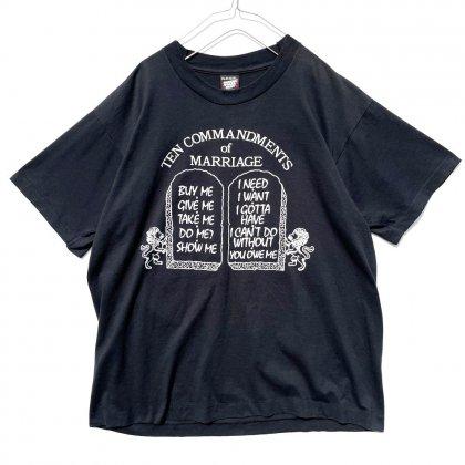 古着 通販 【Ten Commandments of Marriage】ヴィンテージ フレーズ Tシャツ【1990's-】Vintage Phrase T-Shirt