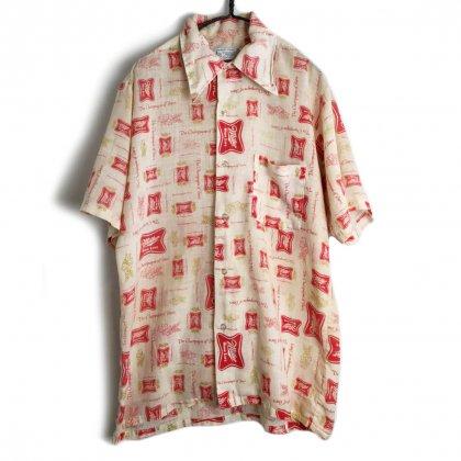 古着 通販 ヴィンテージ S/S 総柄シャツ【1970's】【Miller】Vintage Short Sleeve Shirt