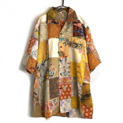 古着 通販 ヴィンテージ S/S クレイジーパターン パッチワークシャツ【1980's】【RIMBA BALI】Vintage Short Sleeve Crazy Patch Work Shirt