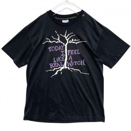古着 通販 【Today I Feel Like A Real Witch】ヴィンテージ フレーズプリント Tシャツ【1989's】Vintage Phrase Print T-Shirt