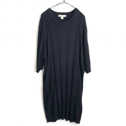 古着 通販 ヴィンテージ シルク ニットTシャツ【1990's-】【PRONT UOMO】Vintage Crewneck Rib Knit Tee