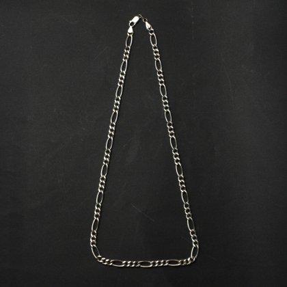 古着 通販 ヴィンテージ シルバー チェーン ネックレス【925 STERLING Silver Italy】Figaro Chain