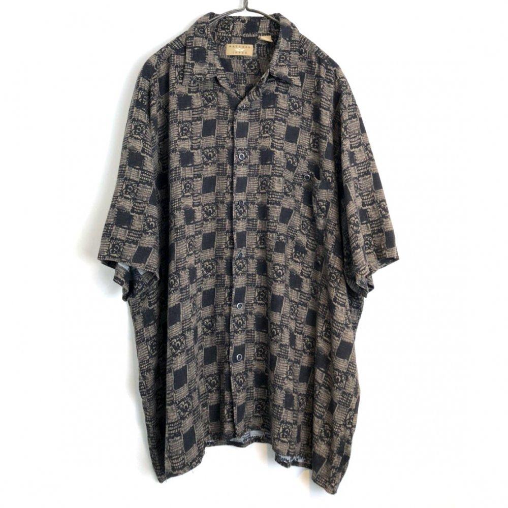 古着 通販 ヴィンテージ S/S レーヨンシャツ【1980's】【NATURAL ISSUE】Vintage Rayon Short Sleeve Shirt