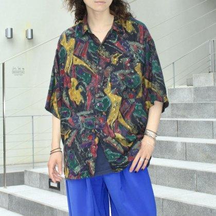 古着 通販 80'S Art Print Shirts Style with 別注 School Pants