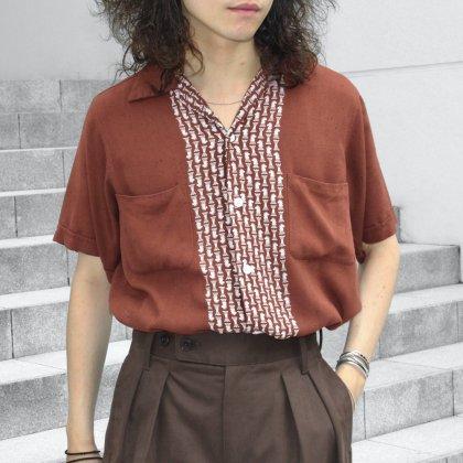 古着 通販 Vintage Open Collar Shirts Style