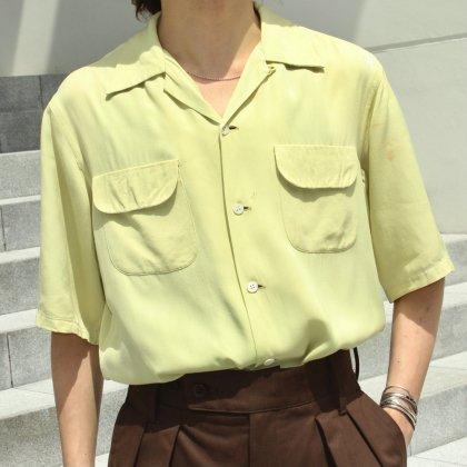 古着 通販 Vintage Open Collar Shirts × Vintage Glasses & HAT