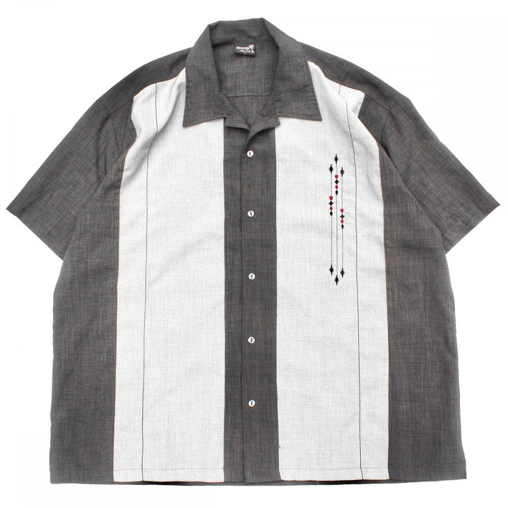 古着 通販 ヴィンテージ S/S オープンカラー シャツ【Steady】【1980's-】50's Style CHA