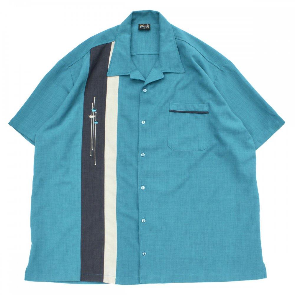 古着 通販 ヴィンテージ S/S オープンカラー シャツ【Steady】【1980's-】50's Style BL