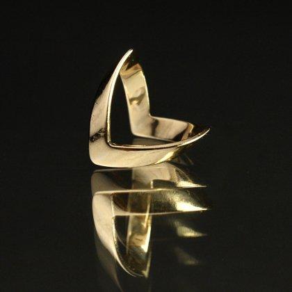 古着 通販 ヴィンテージ ウィッシュボーン リング【Made in ENGLAND】【375 - 9ct Gold】Wishbone Wave