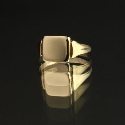 古着 通販 ヴィンテージ シグネット リング【Made in ENGLAND 1937's-】【375 9ct Gold】Square
