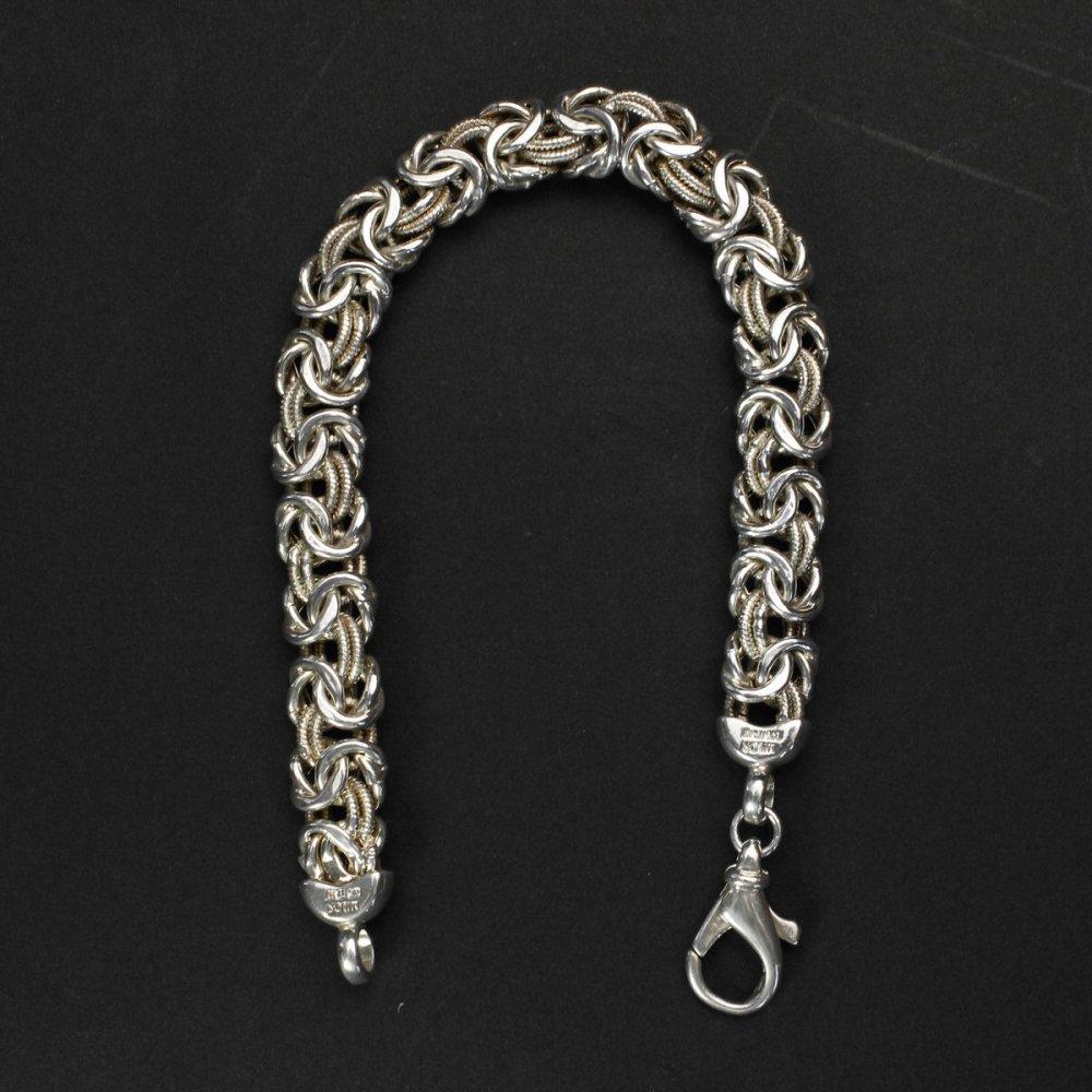 古着 通販 ヴィンテージ シルバー ヘヴィー チェーン ブレスレット【925 MILOR ITALY】Byzantine chain