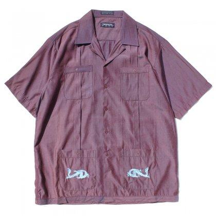 古着 通販 ヴィンテージ キューバ スタイル シャツ【TROPICAL PACE】【1980's-】Dragon Embroidery