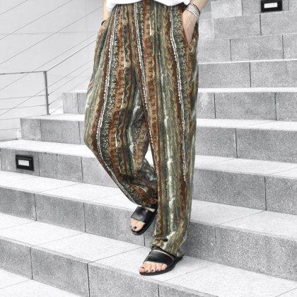 古着 通販 Rayon Art Print Easy Pants Style