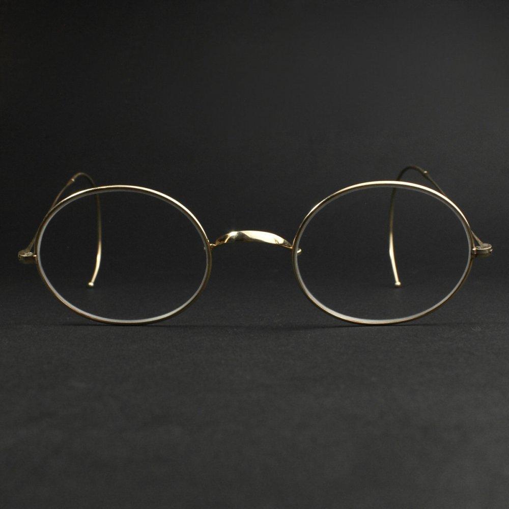 古着 通販 アメリカンオプティカル アンティーク メガネ【American Optical】【1910's~ 12KGF】オーバル 一山 44-20