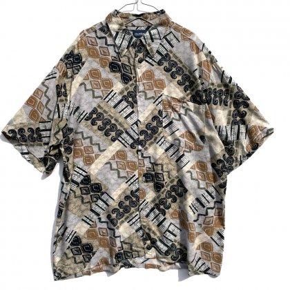 古着 通販 ピューリタン【Puritan】ヴィンテージ アートプリント S/S レーヨンシャツ【1990's】Vintage Rayon Shirt