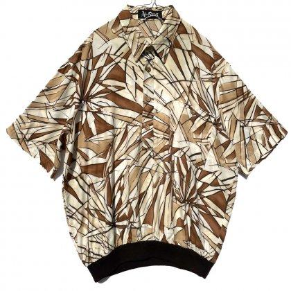 古着 通販 アランスチュアート【Alan Stuart】ヴィンテージ S/S レーヨン リブシャツ【1980's】Vintage Rib Shirt