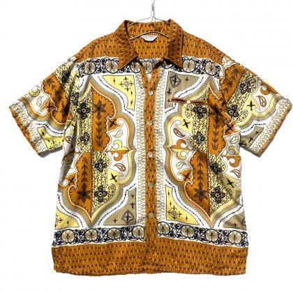 古着 通販 ヴィンテージ バティックパターン S/S コットンシャツ【1960's-】Vintage Cotton Shirt