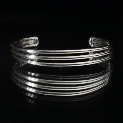 古着 通販 ヴィンテージ シルバー バングル【MEXICO STERLING】Three Wire Solid