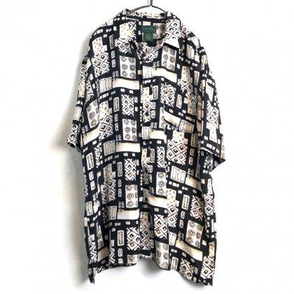 古着 通販 ヴィンテージ S/S シルクシャツ【1980's-】【Scandia Woods】Vintage Short Sleeve Silk Shirt