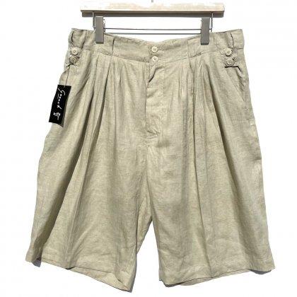 古着 通販 デッドストック グーチ【GOOUCH】ヴィンテージ 5タック リネンショーツ【1990's】Vintage 5-Tuck Linen Shorts