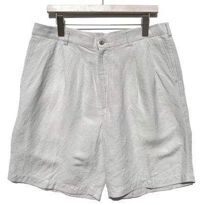 古着 通販 ヴィンテージ 2タック レーヨンリネン ショーツ【portfolio】Vintage 2-Tuck Rayon-Linen Shorts