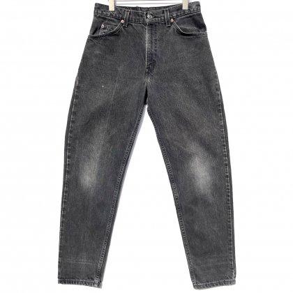 古着 通販 リーバイス 550 ブラック【Levis 550-4159 Made In USA】【1990's】Vintage Black Denim Pants W-31 L-32