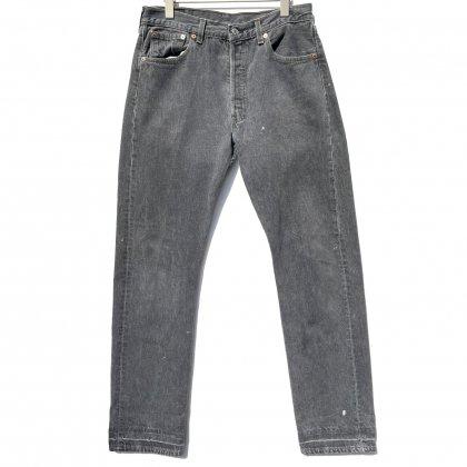 古着 通販 リーバイス 501 ブラック 先染め【Levis 501-0658 Made in USA】【1990's】Vintage Black Denim Pants W-33 L-34