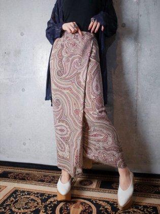 古着 通販 ペイズリー柄シルク巻きスカートPaisley Silk Wrap Skirt