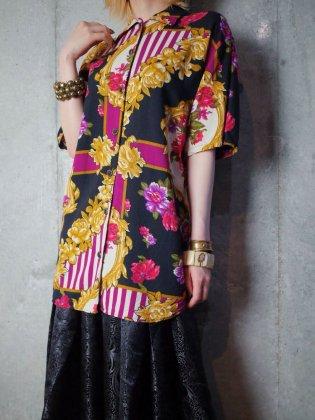 古着 通販 ヴィンテージ バロック柄 レーヨンシャツ 1980-90年代 Baroque Pattern Rayon Shirt