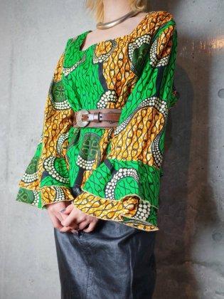 古着 通販 ヴィンテージ アフリカンバティック ラッフルスリーブ トップス African Ruffle Sleeve Tops