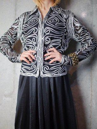古着 通販 ヴィンテージ コード刺繍 メッシュジャケット Code Embroidery Mesh Jacket