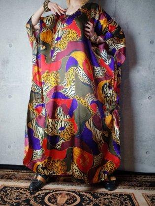 古着 通販 ヴィンテージ マーブルアート柄 カフタンワンピース Marble Art Kaftan Dress