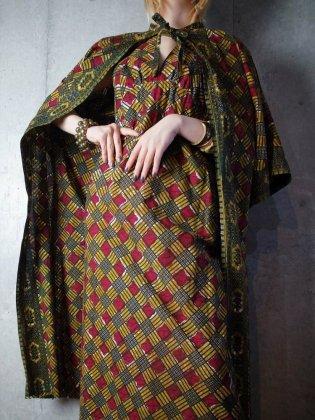 古着 通販 ヴィンテージ アフリカンバティック ガウン&ホルターネックワンピース セットアップ African Batik Gown & Halterneck Dress Set up