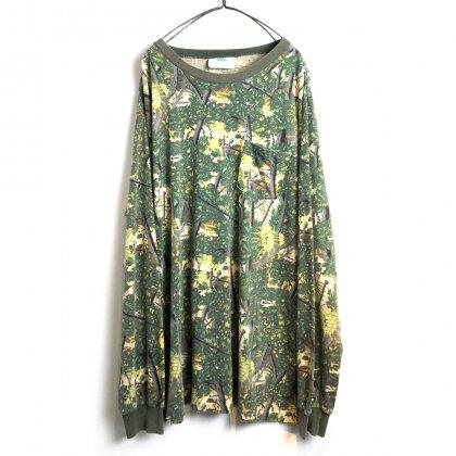 古着 通販 ヴィンテージ L/S カモフラ Tシャツ【1990's】【BUSHLAN】Vintage Long Sleeve Camouflage Tee