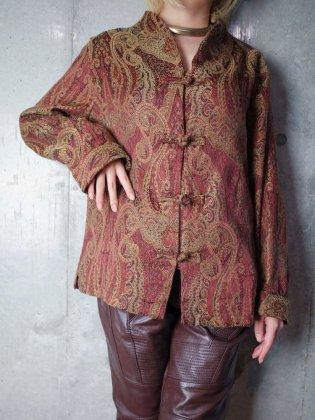 古着 通販 ヴィンテージ ペイズリー チャイナボタン ゴブランジャケット Paisley Gobelin China Style Jacket