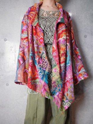 古着 通販 ヴィンテージ サイケデリック 刺繍 変型ジャケット Crazy Embroidery Art Jacket