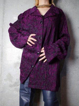 古着 通販 ヴィンテージ ディープパープル アールヌーヴォー 織り柄 ジャケット Deep Purple Art Nouveau Woven Jacket