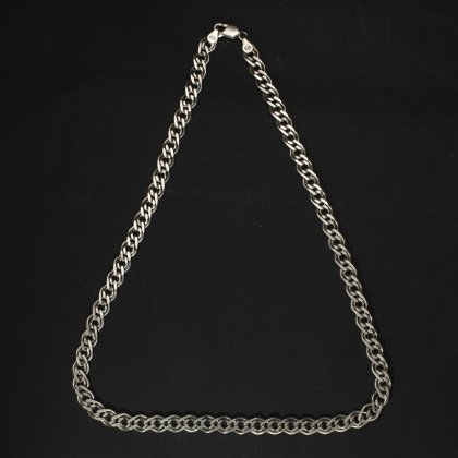 古着 通販 ヴィンテージ シルバー チェーン ネックレス【925 STERLING Silver Russian】 Double Link Heavy Chain