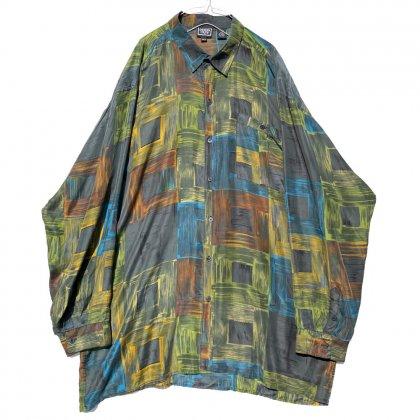 古着 通販 ヴィンテージ ビッグシルエット シルクシャツ【1990's】【Design Crew】Vintage Silk Shirt