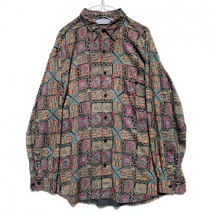 古着 通販 ヴィンテージ アートプリント レーヨンコットンシャツ【1990's】Vintage Art Print Shirt