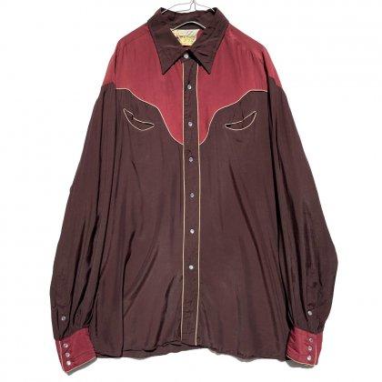 古着 通販 ケニントン【Rocking K Ranch Wear By Kennington】ヴィンテージ レーヨン ウエスタンシャツ【1970's】Vintage Rayon Western Shirt