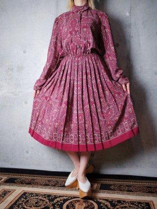古着 通販 ヴィンテージ クラシカルアラベスク柄 ワンピース Classical Arabesque Dress