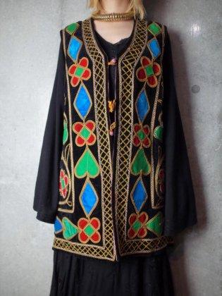 古着 通販 ヴィンテージ アフガン刺繍 ベルベット ベスト 1960-70年代 Afghan Embroidery Velvet Vest c.1960-70s