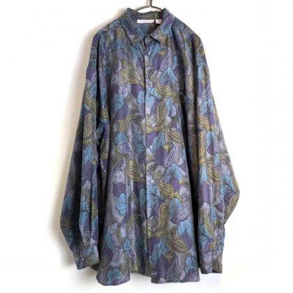 古着 通販 ヴィンテージ ボタニカルパターン シルクシャツ【1990's】【high advantage】Vintage Silk Shirt